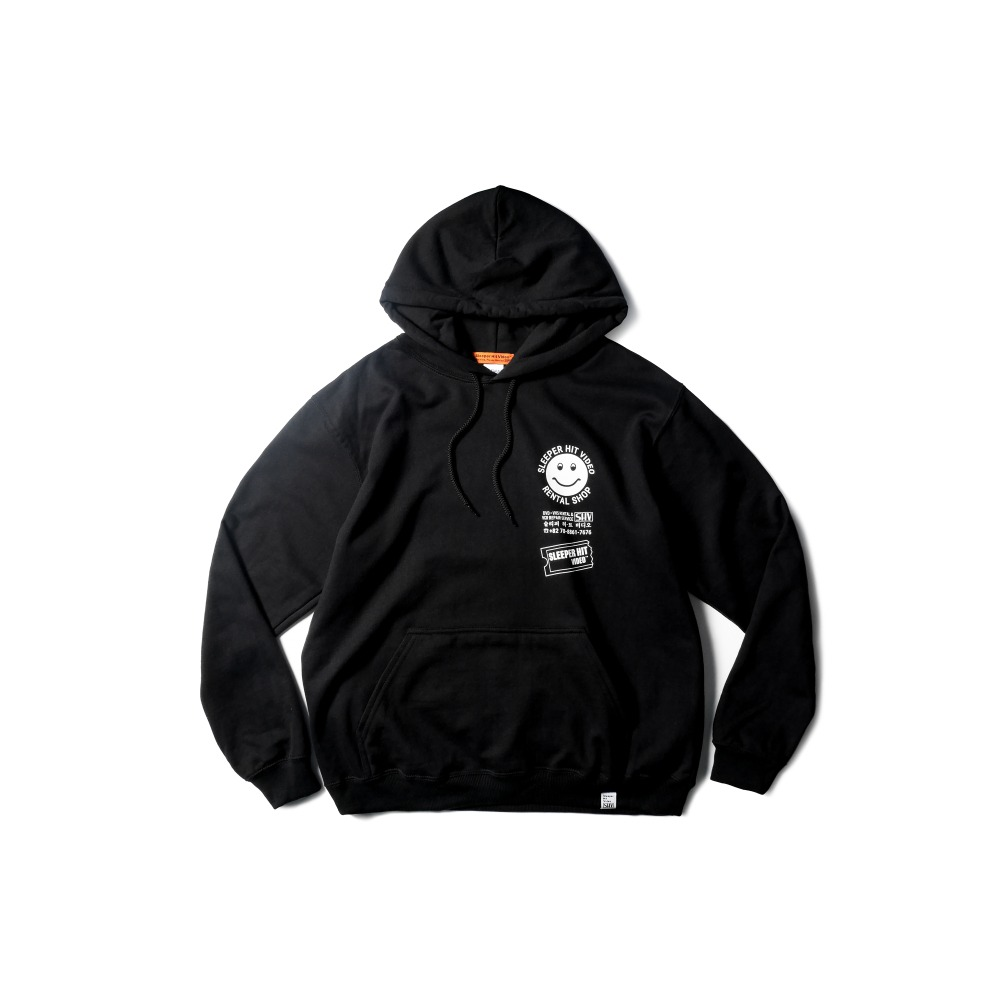 SLEEPER HIT VIDEOS.H.V. Merchandise Hoodie(Black)