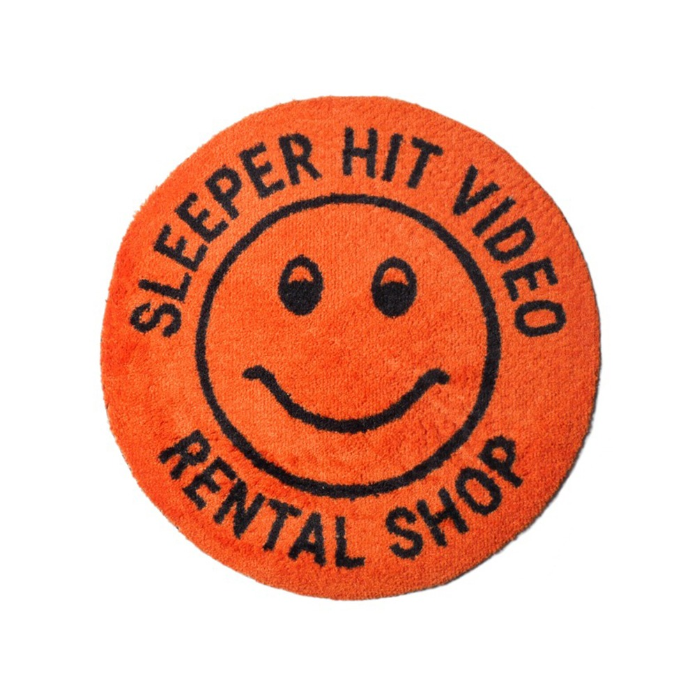 SLEEPER HIT VIDEO*RESTOCK*S.H.V. Smiley Rug(Orange)