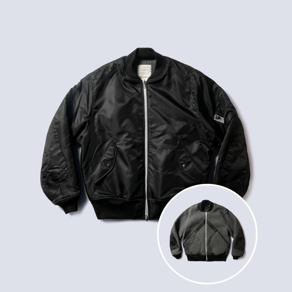NAMER CLOTHINGReversible MA-1 Bomber Jacket(Black)
