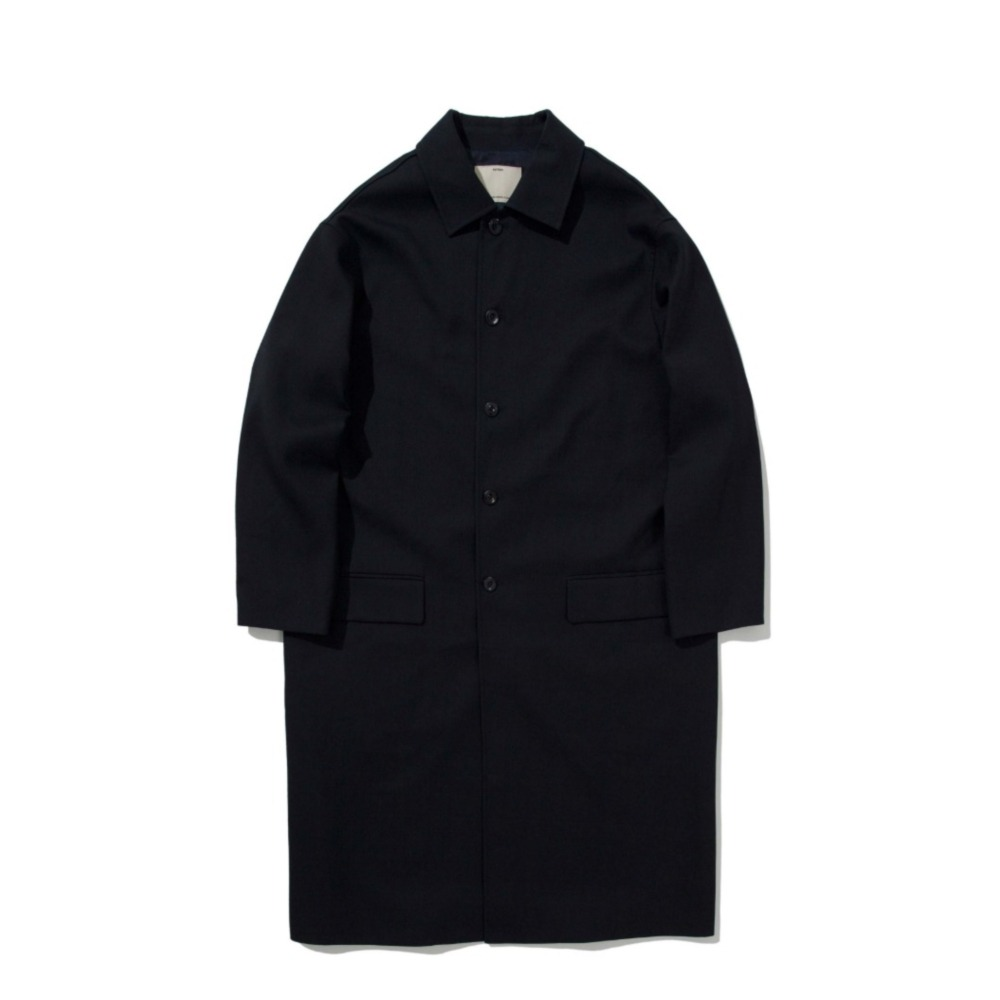 POTTERYWool Mac CoatBritish Wool Gabardine Cloth(Navy)
