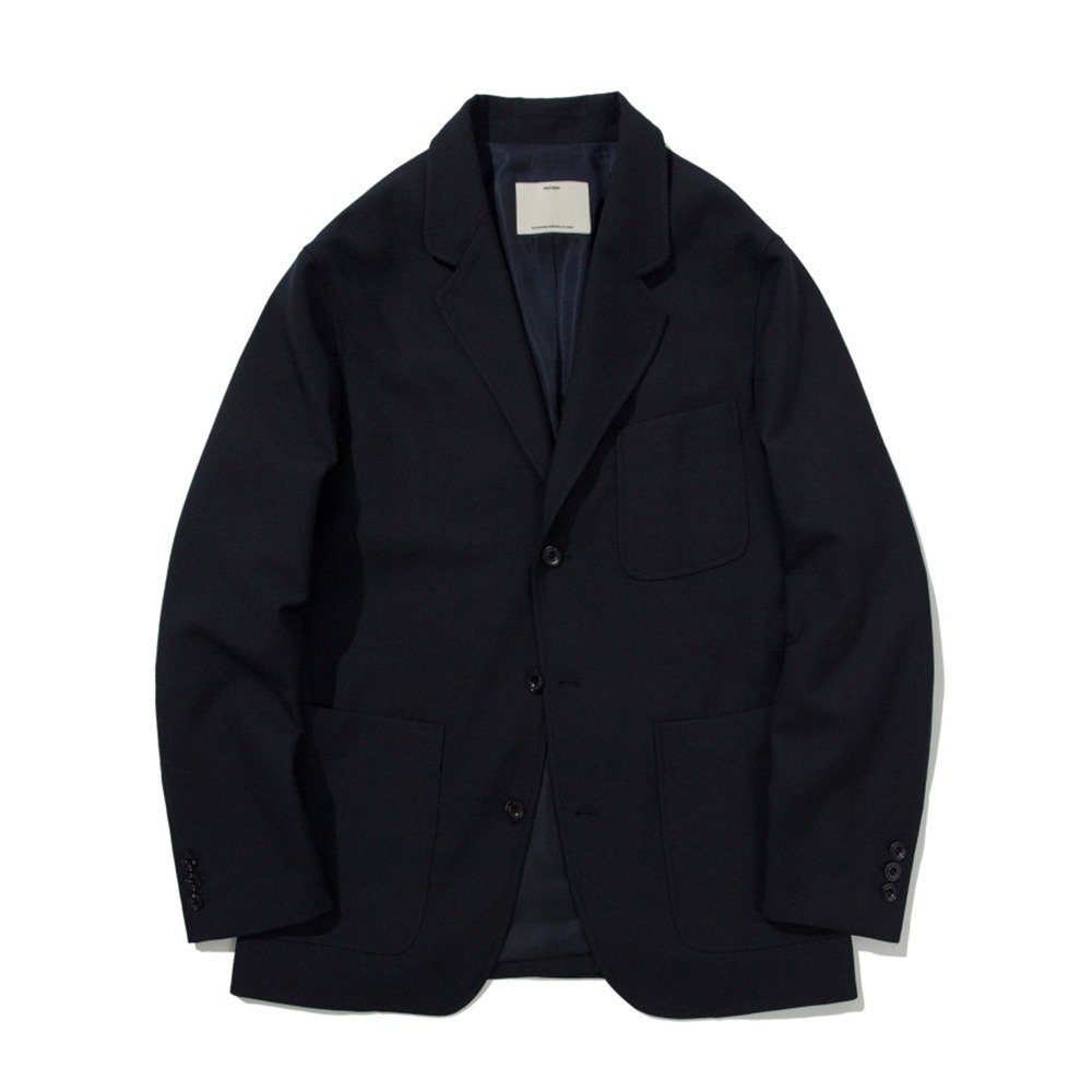 POTTERY*RESTOCK*Wool Sports JacketBritish Wool Gabardine Cloth(Navy)