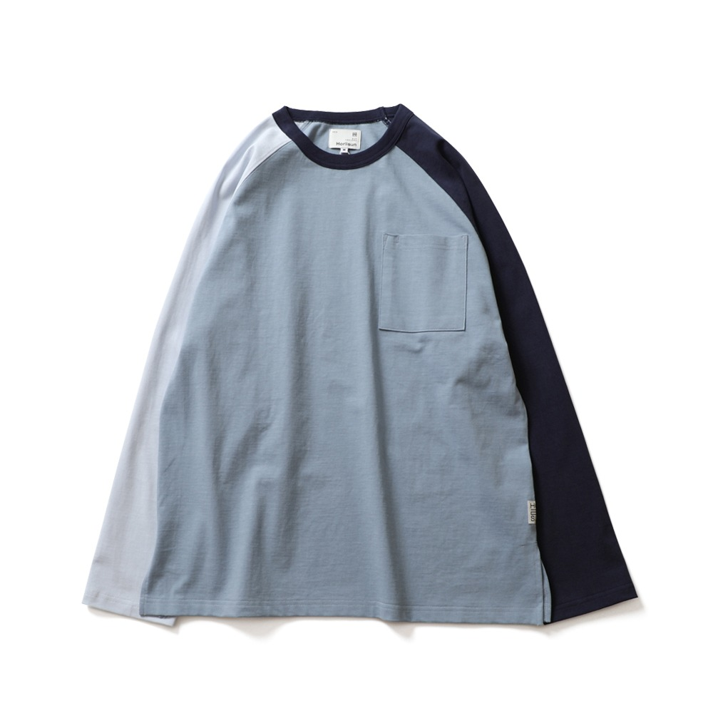 HORLISUNFairview Raglan Color Variation Pocket (Blue Navy)