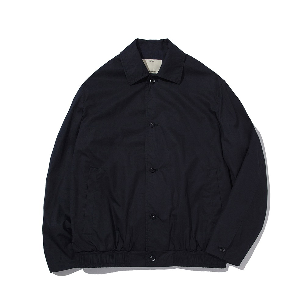 POTTERYCotton BlousonCotton 80/1 High Density Twill Slick Finish(Navy)