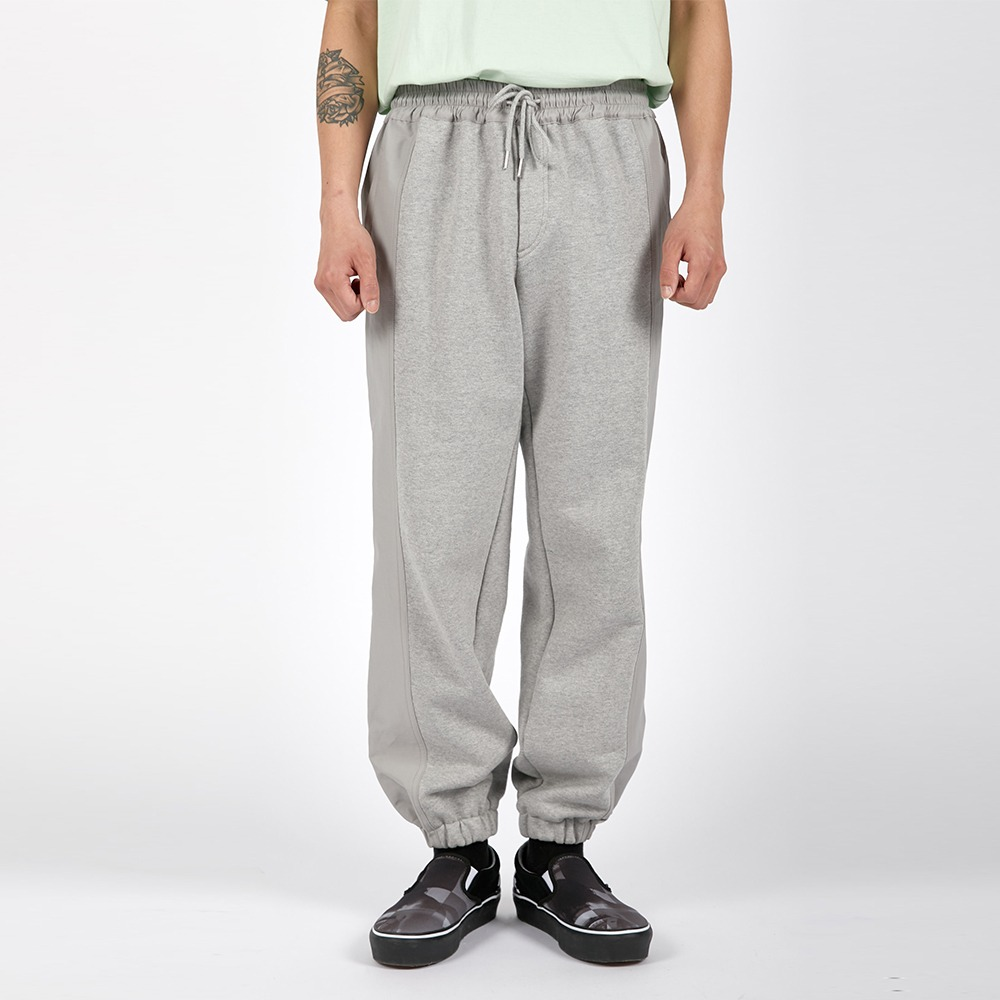 AFTER PRAYSignature Pannel Sweat Jogger(Grey)