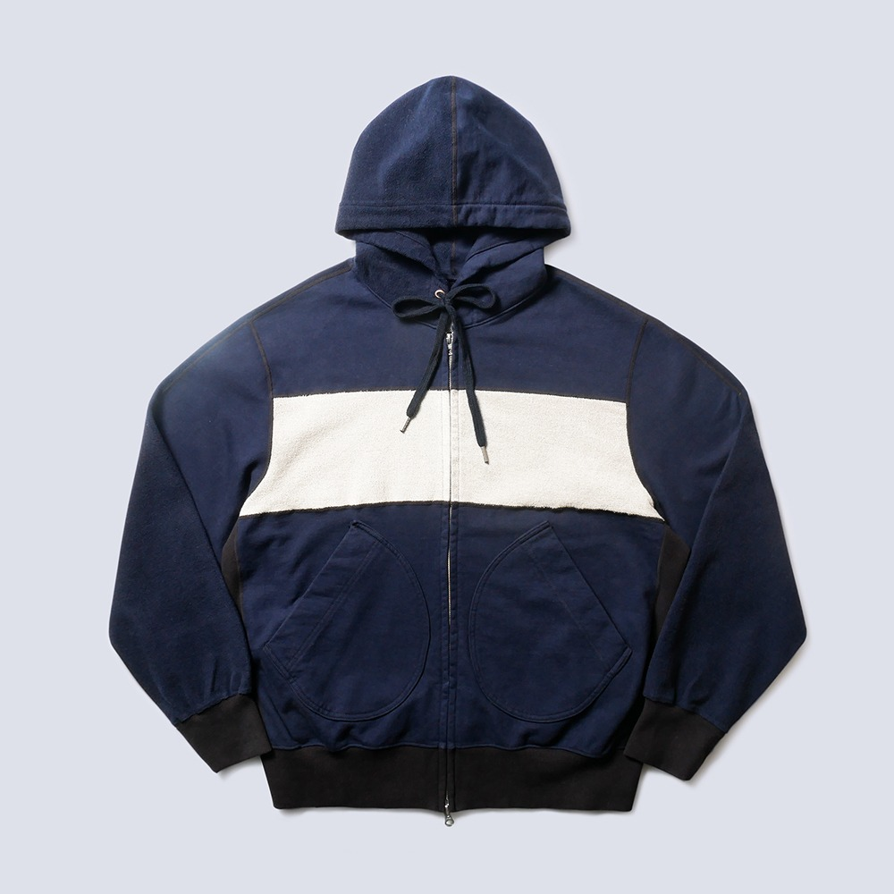 NAMER CLOTHINGBlanket Zip-Up Hoodie(Navy)