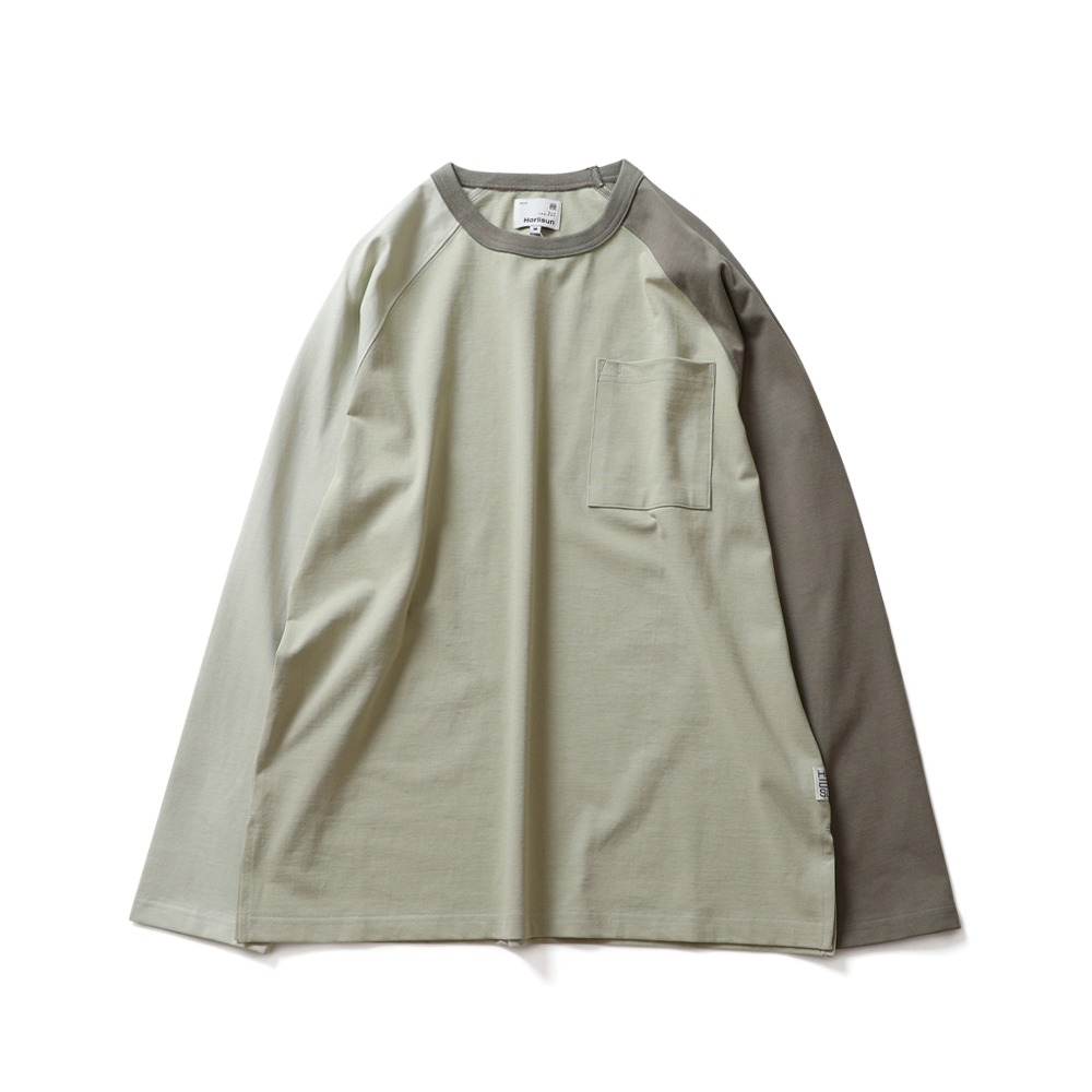 HORLISUNFairview Raglan Color Variation Pocket (Green Olive)