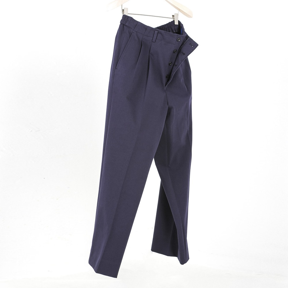 DOCUMENTCotton Jersey Wild & Easy Trousers(Navy)