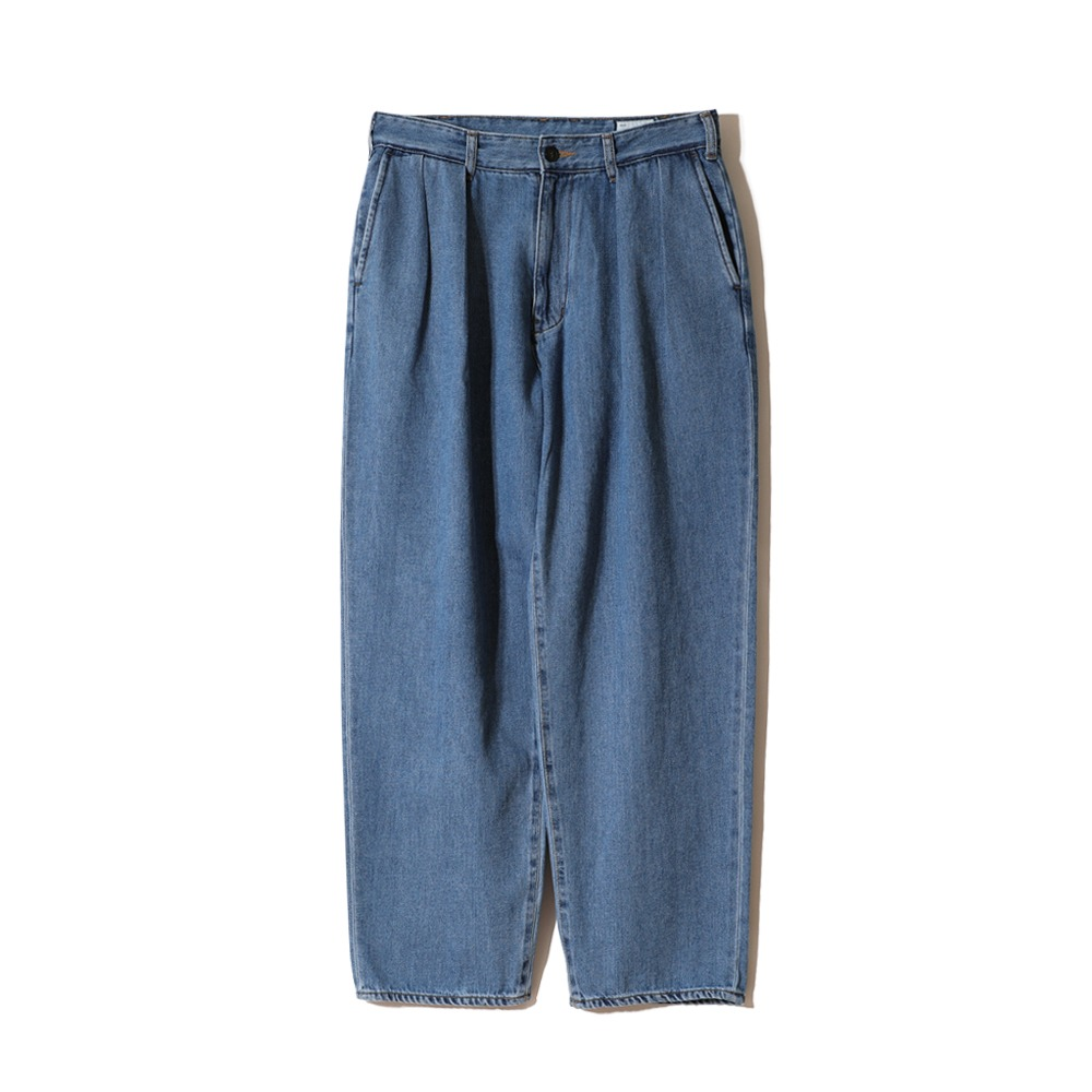 HORLISUNCorrigin Wide Loose Denim Pants(Light Navy)