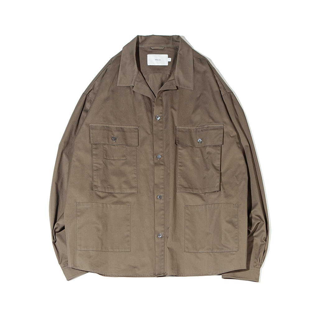 OURSELVESSatin Cotton B.D.U Shaket(Olive)