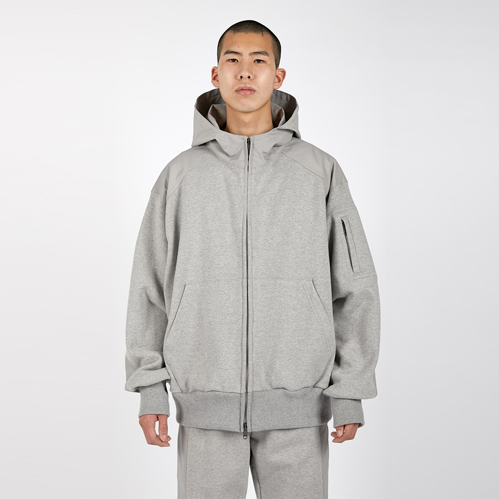 AFTER PRAYFountain Pannel Zipup Hoodie(Grey)