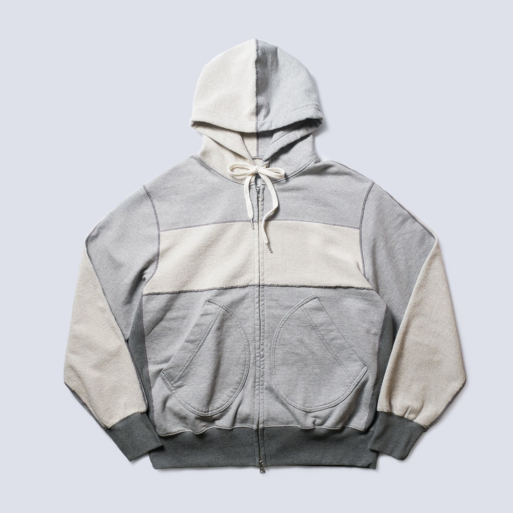 NAMER CLOTHINGBlanket Zip-Up Hoodie(Grey)