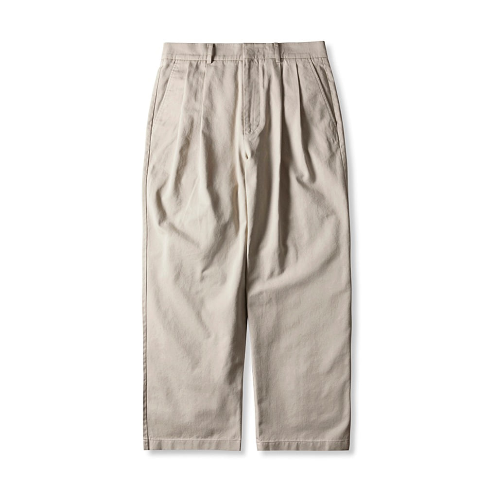 ESFAI2 Tuck Wide C.Pants(Light Beige)