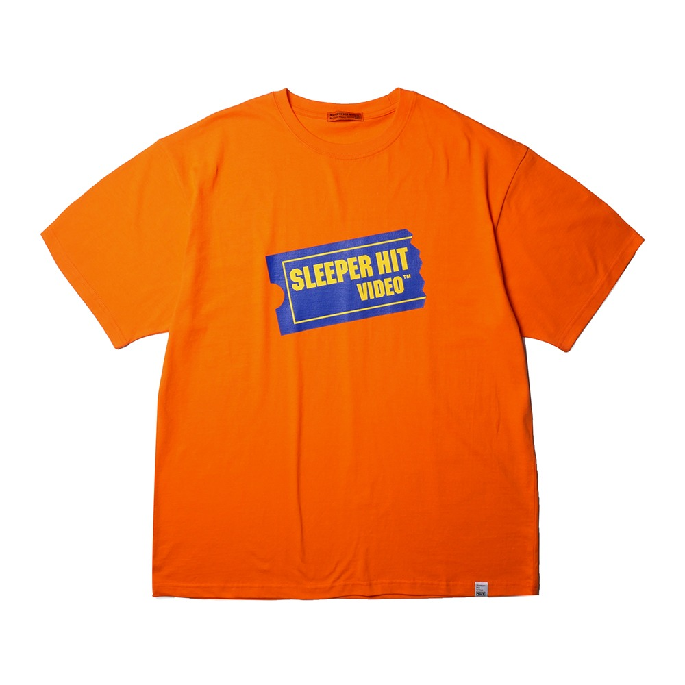 SLEEPER HIT VIDEOS.H.V. Ticket Logo T-Shirts(Orange)