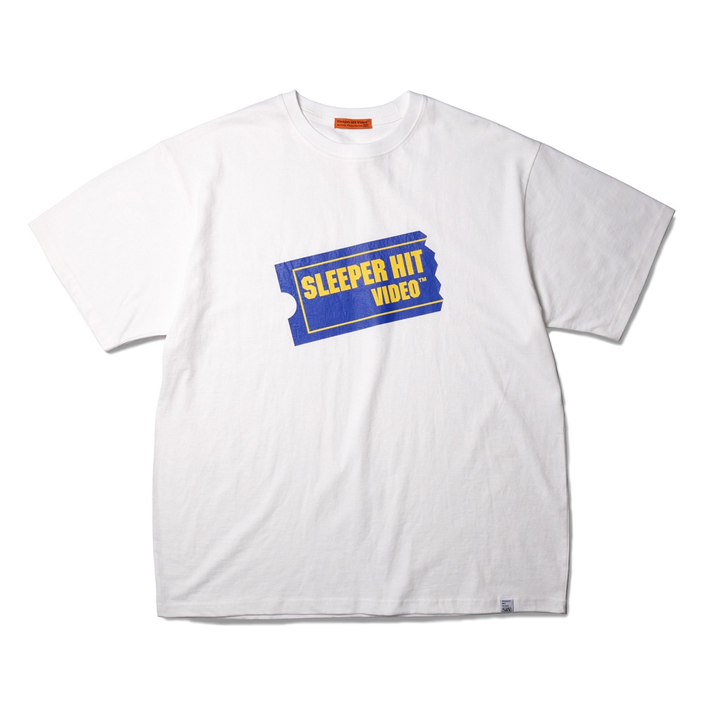 SLEEPER HIT VIDEOS.H.V. Ticket Logo T-Shirts(White)