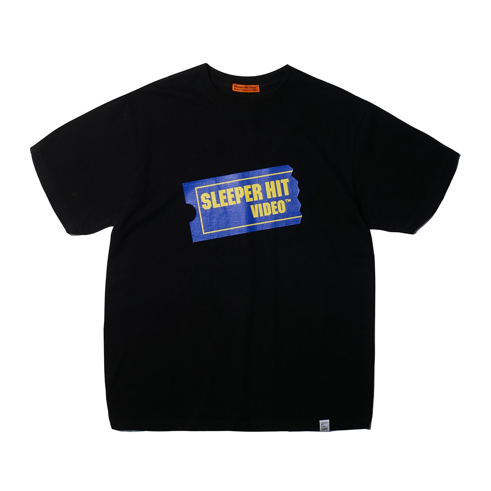 SLEEPER HIT VIDEOS.H.V. Ticket Logo T-Shirts(Black)