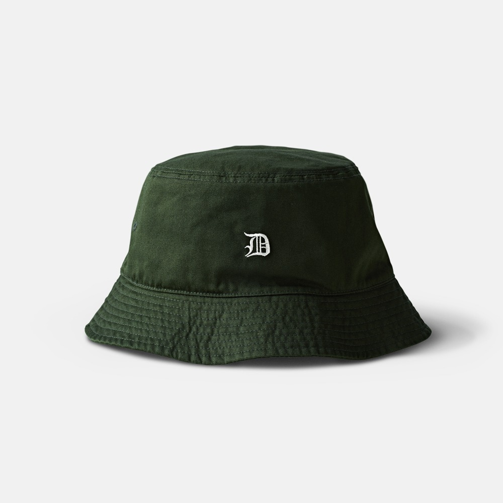 DEUTERODTR1964 DTRO+AFST 90s D Bucket Hats(Forest Green)