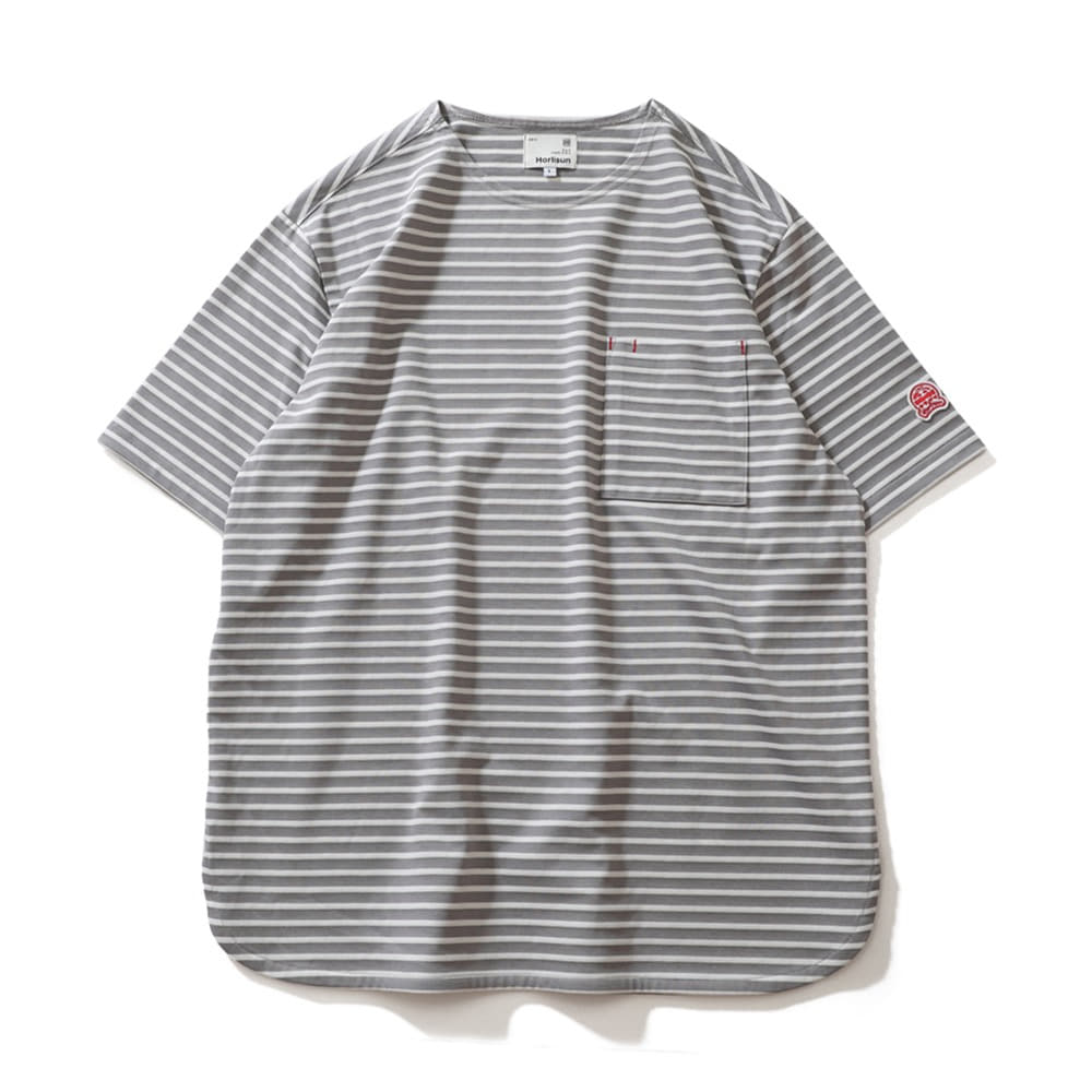 HORLISUNUnion Short Sleeve Pocket T-Shirts(Grey)