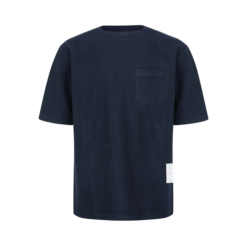 YOUNEEDGARMENTSSide Label French Terry Crew Neck(Navy)