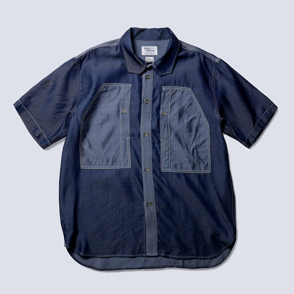 NAMER CLOTHINGBluer Tencel Work Shirts(Indigo)