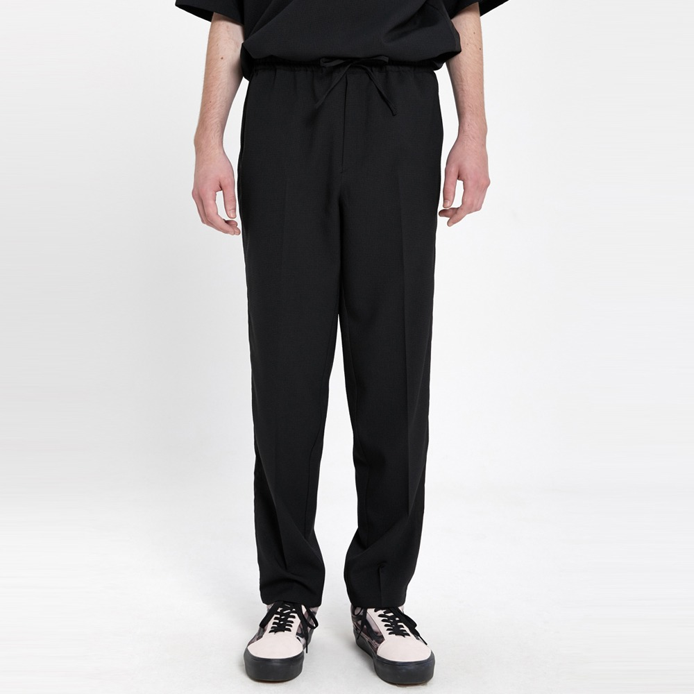 AFTER PRAYWind Seersucker Track Pants(Black)