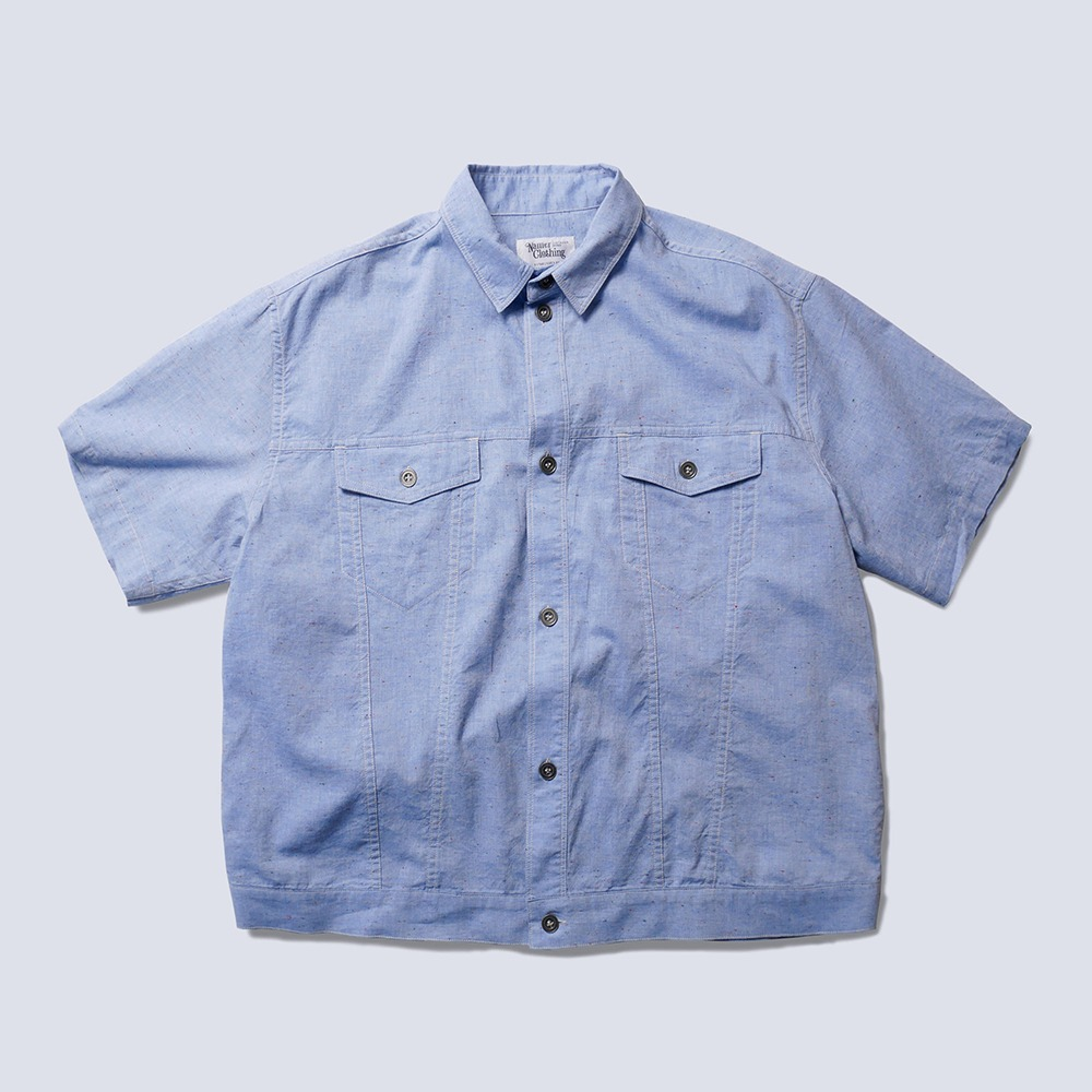 NAMER CLOTHINGBluer Nep Trucker Shirts(Light Blue)
