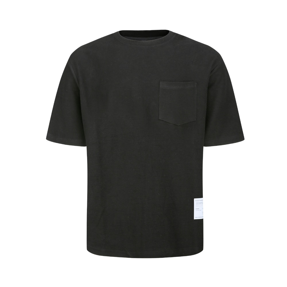 YOUNEEDGARMENTSSide Label French Terry Crew Neck(Black)