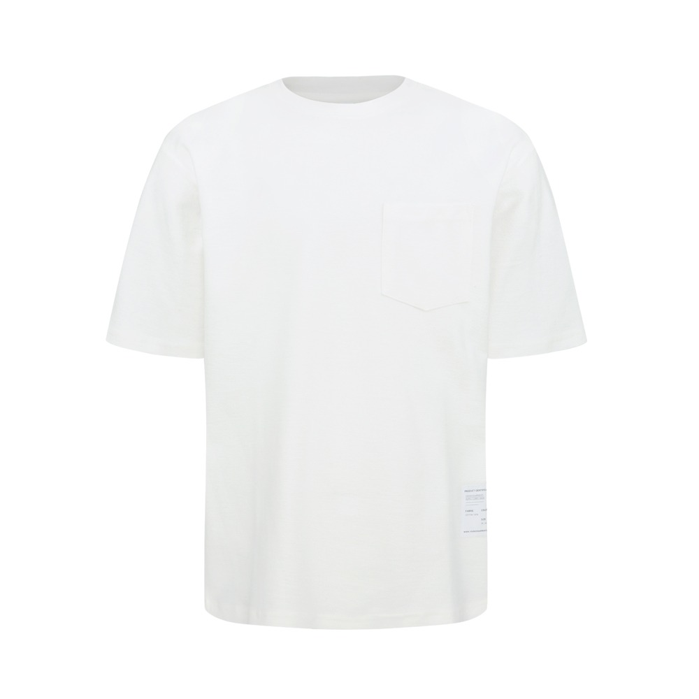 YOUNEEDGARMENTSSide Label French Terry Crew Neck(Off White)